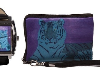 Tiger Watch and Matching Wristlet by Salvador Kitti - Save on the Set