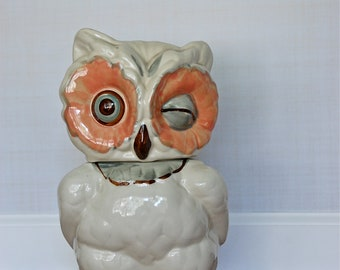 Vintage Shawnee Winking Owl Cookie Jar, Made in USA