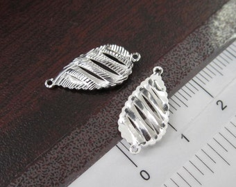 6 Pcs  -  Silver Plated Hollow Teardrop Filigree Earring,  Earring Findings, Earrings, Pendant (19x10MM) BO018