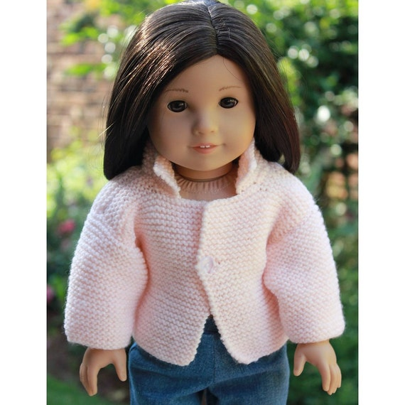 """CLEARANCE - 18"""" Doll Clothes - Pastel Peach Sweater to fit American Girl"""