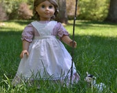 Heidi Dress and Pinafore for American Girl 18 inch doll