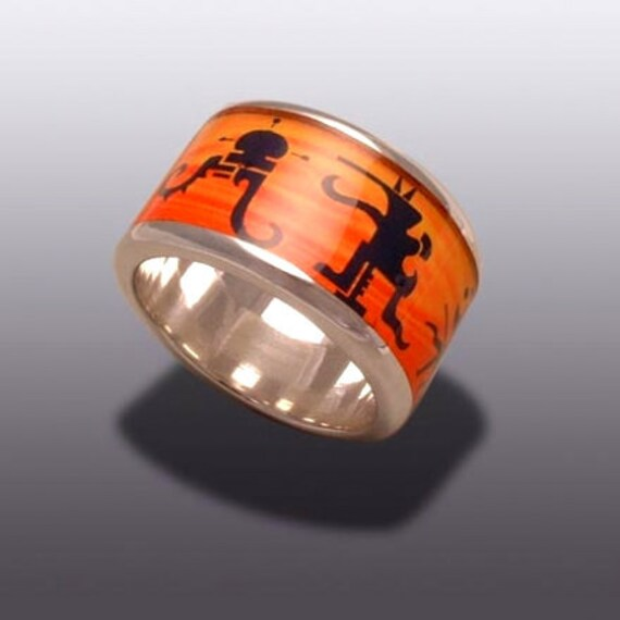 Creatures in sunset - SILVER  RING
