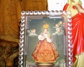 Vintage INFANT of PRAGUE Easel Shrine-  Italian Plastic-  NOS