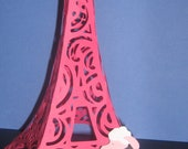 3D Pink Poodles in Paris Eiffel tower centerpiece for birthdays, bridal showers, home decor