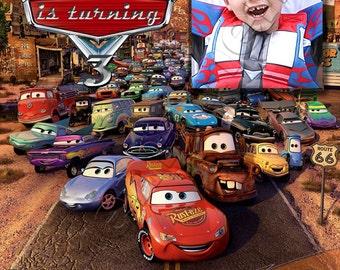 Disney Pixar Cars - Personalized Birthday Party Invitation