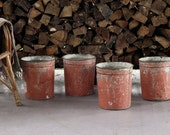 Vintage Maple Syrup Buckets, Set of 4