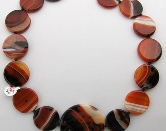 Autumn Colored Agate Necklace with Toggle Clasp  // Big Bold Jewelry