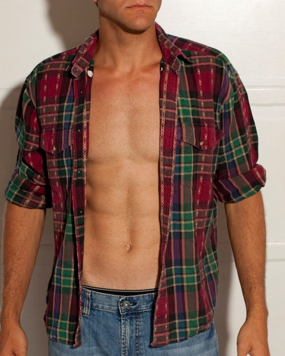 Manly Wrangler Flannel with Cool Design