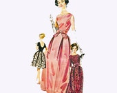 Butterick 2489 1960s Misses Mad Men Sewing Pattern Evening Ball Gown 32 Bust Size 12