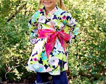 Willow's Wrap Jacket PDF Pattern Sizes 6/12 mos to size 8