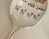 All Things Grow With Love - Vintage Everyday, Birthday, Anniversary Gift - 2012 Original forsuchatimedesigns