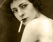 MATURE... Don't Mess With Paris... Digital Download... Vintage Nude Photo Image by Lovalon