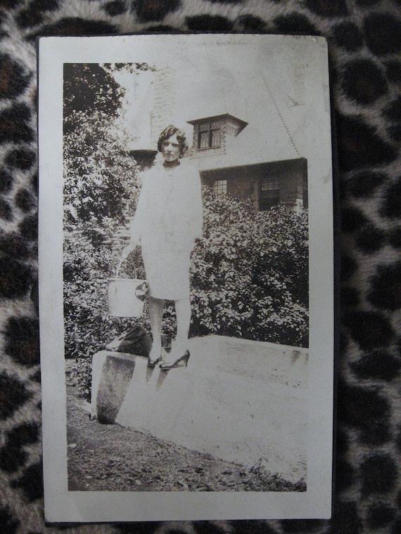 Pigeon Toes... Vintage Photo... 1930's Original Snapshot Photograph