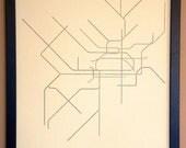 Philadelphia Typographic Transit Map Poster