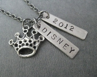 PRINCESS Necklace - Choose your Year - Princess Necklace on 18 inch Gunmetal chain - Princess Runner - Running Diva - Princess Race - Runner