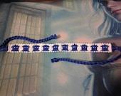 MADE TO ORDER Tardis Macrame Friendship Bracelet