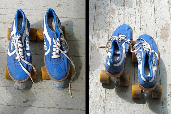 1970s Rare Makaha Roller Skates Mens Size 11 in Cobalt and Cream