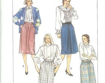 Vintage 1989 Simplicity 9352  UNCUT Skirts Size 12
