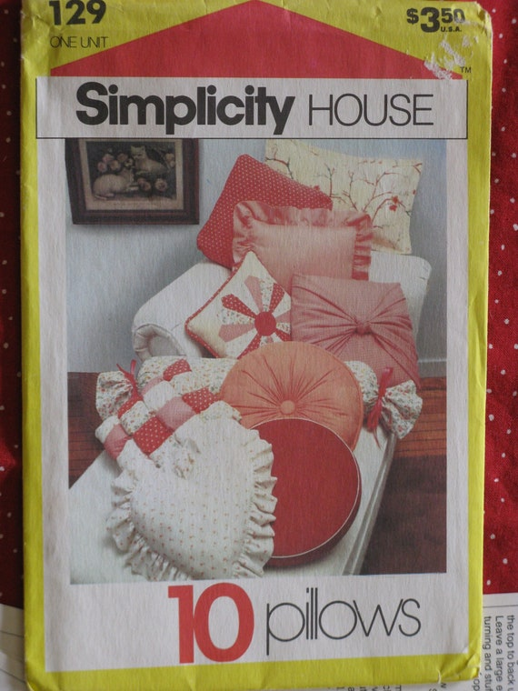 vintage home decor sewing patterns simplicity crafts home decorating sewing pattern great pillows 13090