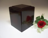 Rosewood Color Cremation Urn, Inexpensive Urn, Cremation Urn, Memorial Urn, Handmade Urn,Urn, Unique Urn