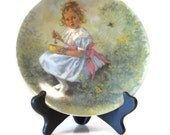 1982 Reco collectors Plate Miss Muffet 3rd in Mother Goose Series by John McClelland