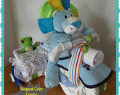 Diaper Cake - Diaper Motorcycle with Side Car - Baby Shower Gift - Baby Shower Centerpiece- Boy