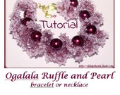 Beading Pattern PDF - Ogalala Ruffle and pearl bracelet or necklace beading pattern scheme tutorial technique instructions oglala
