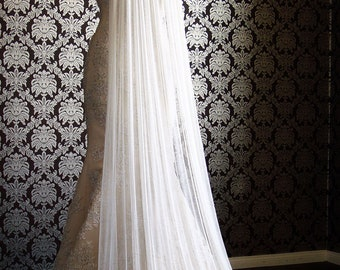 Natural Silk Tulle Cathedral Veil, Cut Edge Bridal Veil, Soft Silk Tulle, Drape Veil by IHeartBride Silk Tulle Collection ES60 Vintage Style