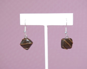 Yummy Square Chocolate Earrings - From My New Gitana's Yummies Collection