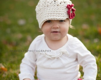 Crochet Baby Hat, kids hat, hat for girls, crochet newsboy hat