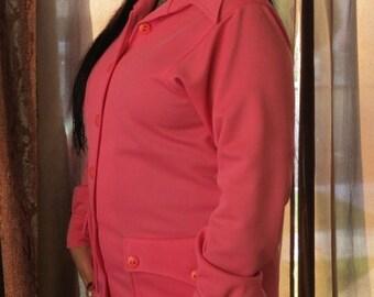 Pink Lightweight 1970's Jacket/ Shirt