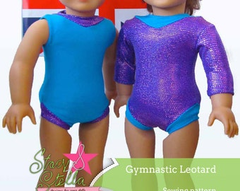 Leotard PDF sewing pattern for 18 inch dolls like American Girl - INSTANT DOWNLOAD.