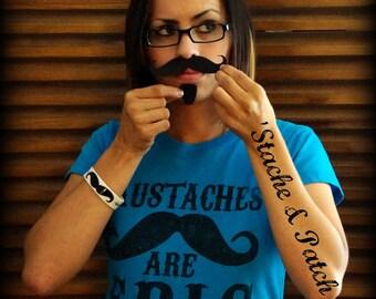 Mustache sticker-Mustache and Soul Patch- Vinyl Decal-car decal-car mustache-The Stache and Patch-Little Man Party-Mustache theme
