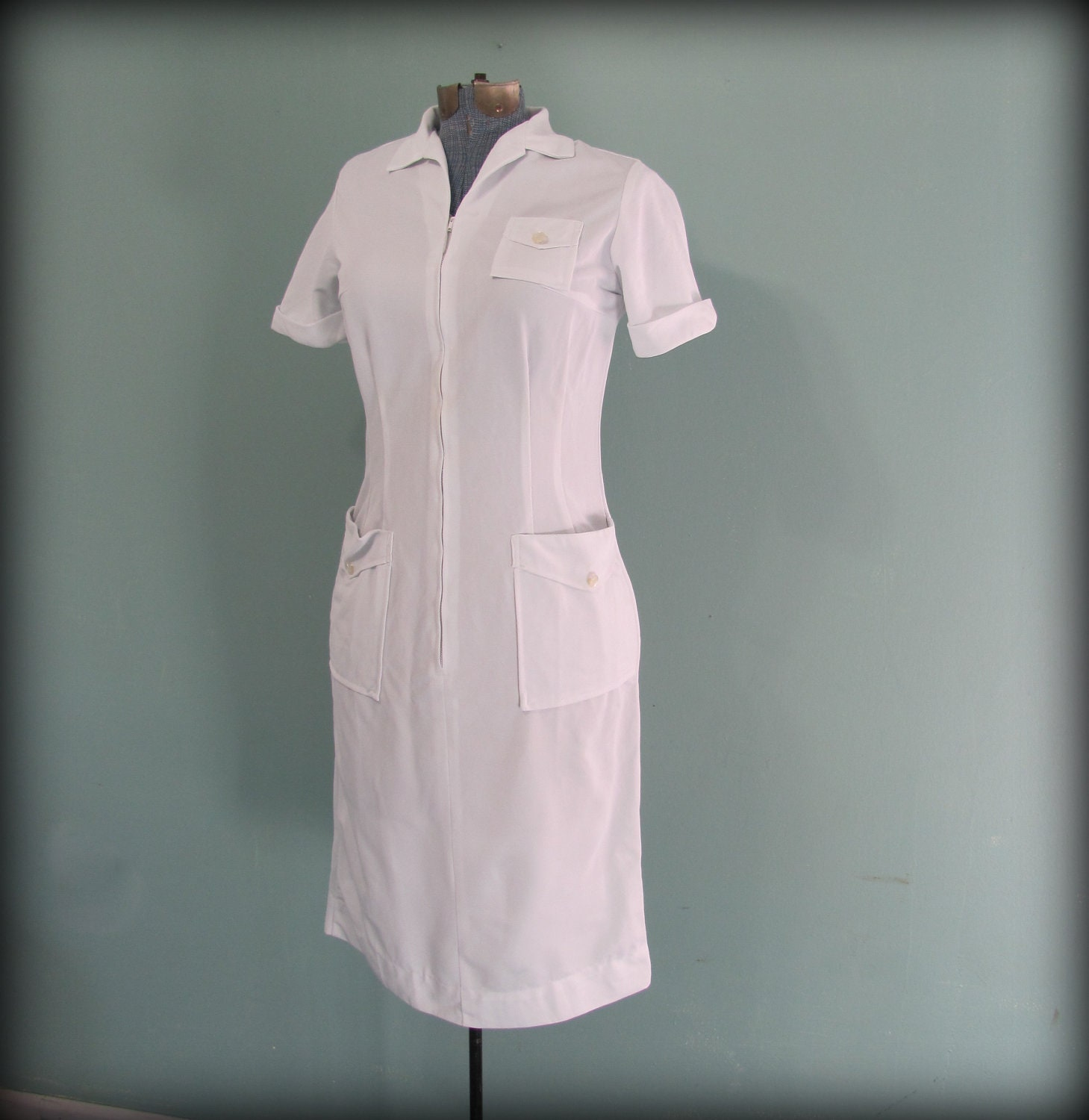White Nurse Uniform Dress 60