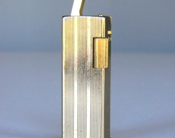 Vintage Pocket Lighter Cigarette Kensington Gold Tone Stripes