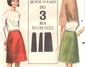 1960s Basic Skirt Pattern Butterick 3509 Waist 26 Uncut