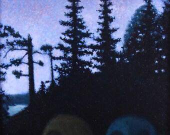 Twilight Camp - original painting