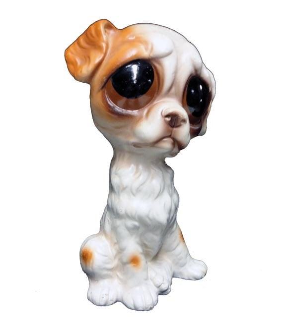 Vintage Sad Eyed Dog Vintage Big Eye Puppy Figurine