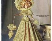 1897 Anitque Lace Gown Crochet Collector Costume Volume 34 Fashion Doll  Crochet Pattern