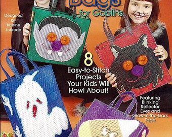 Goodie Bags for Goblins Plastic Canvas Pattern book - The Needlecraft Shop 844232