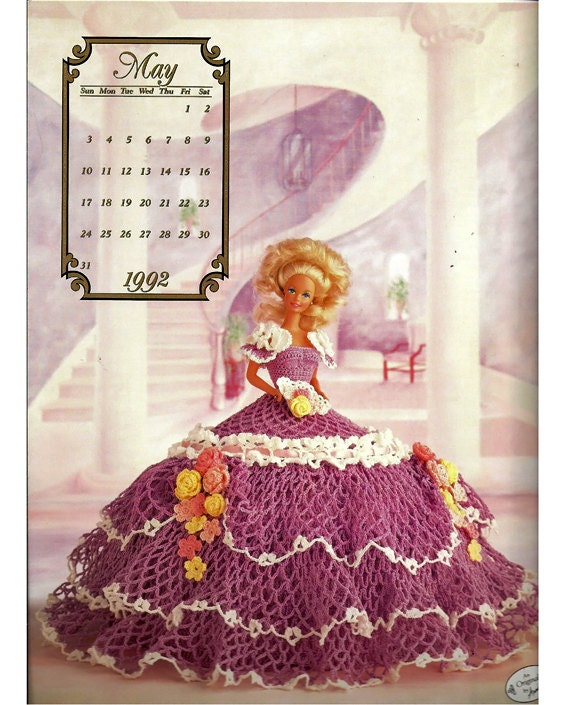The Cotillion Collection  Miss May 1992 Fashion Doll  Crochet Pattern  Annies Calendar Bed Doll Society 7505