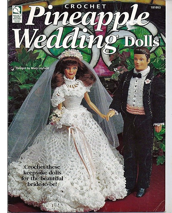 Pineapple Wedding Dolls Crochet Pattern For 11 1 2 And 15