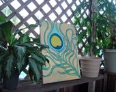 Peacock Feather Painting- Free shipping Etsy