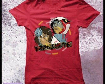 Gatchaman transmute tshirt womens - Battle of the planets