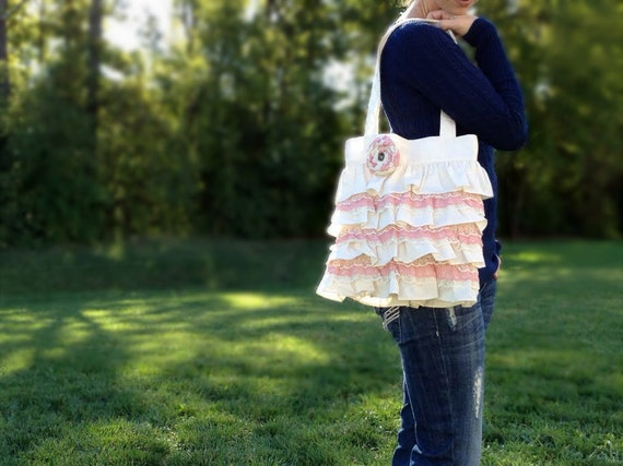 Ruffles and Pink Lace Purse