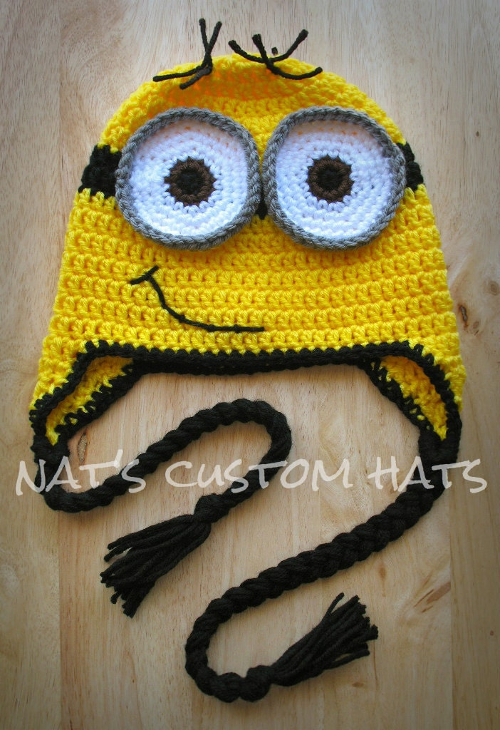 Crochet Baby Minion Hat Pattern : Newborn to Adult Crochet Despicable Me Minion Hat Made to