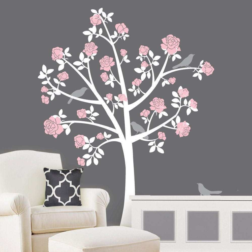 tree wall decals chinoiserie rose tree flower girl nursery details chinoiserie tree murals