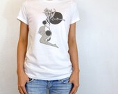 Graphic T-Shirt Female Body Art Print Tee - Womens Clothing S M L