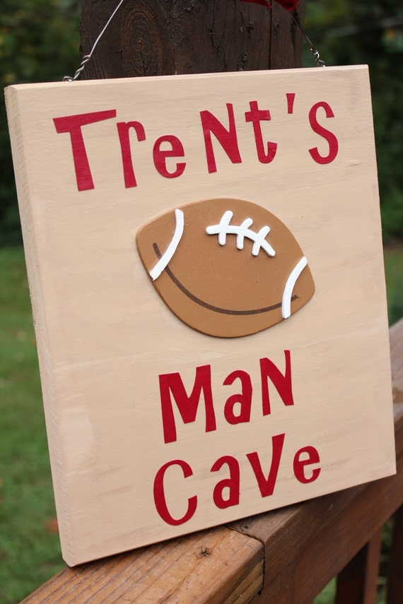 Personalized Man Cave Signs Etsy : Personalized football man cave sign by designsbykcamille