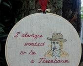 Wes Anderson Eli Cash Embroidery Hoop Art